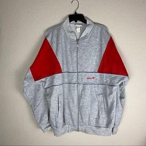 Adidas Vintage Jacket Grey Full Zipper